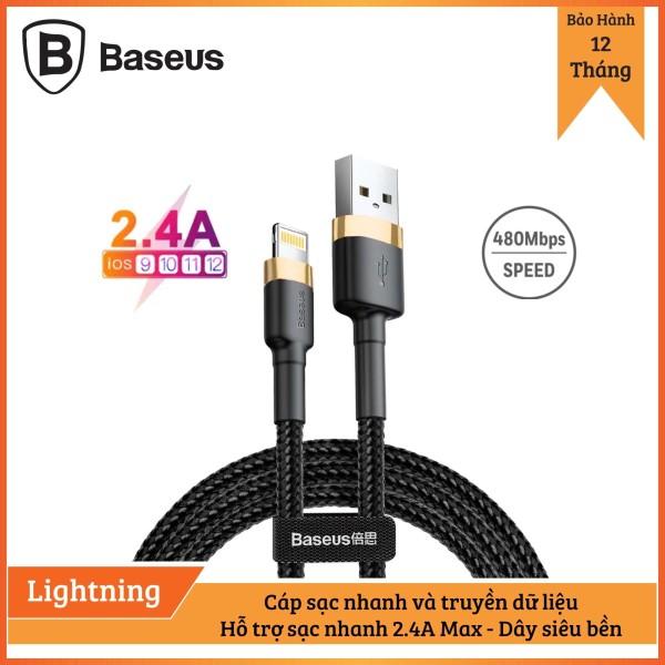 Giá Cáp sạc Baseus sạc nhanh và truyền dữ liệu tốc độ cao Cafule Lightning cho iPhone/ iPad 2,4A  - Bảo hành 12 tháng, Sạc nhanh, Siêu bền