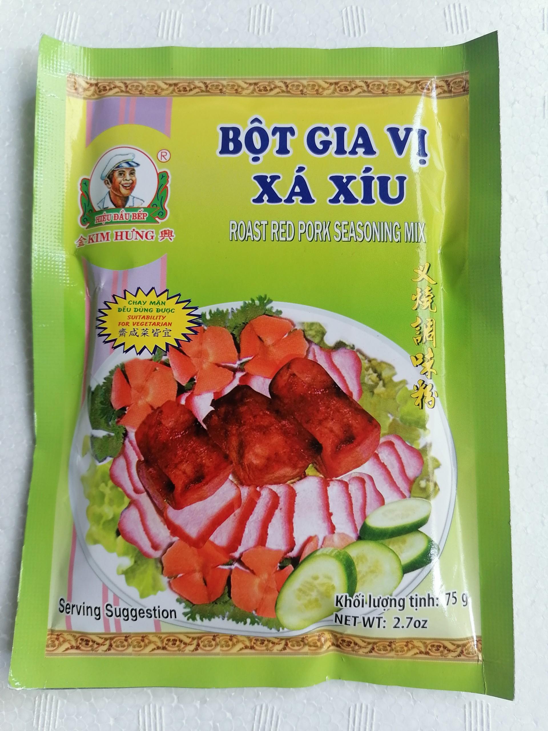 Bột gia vị xá xíu hiệu Đầu Bếp KIM HƯNG Roast Red Pork Seasoning Mix 75g