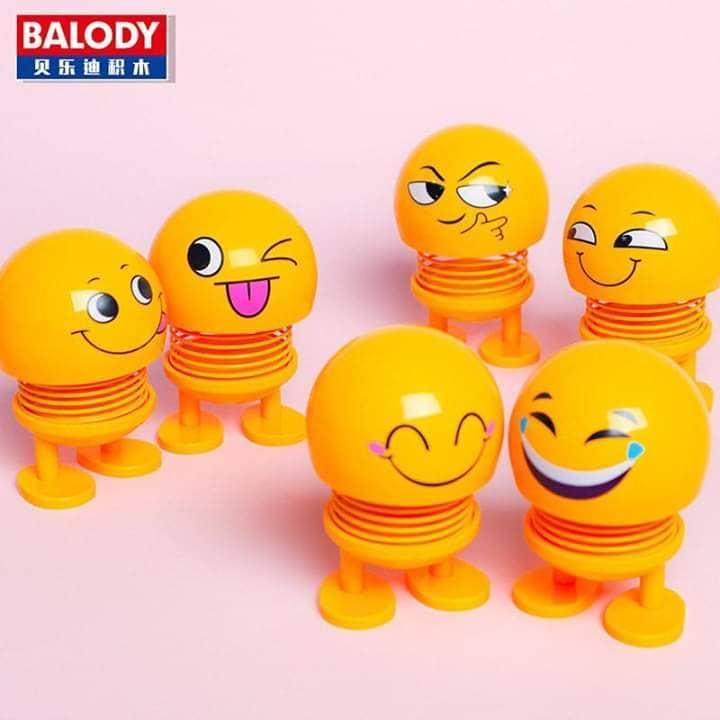 Combo 6 thú nhún Emoji lò xo hình biểu tượng cảm xúc