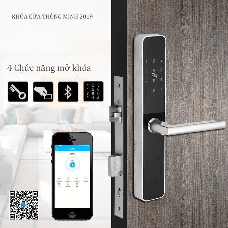 [APP iOS/Android tiếng Việt] Khóa cửa thông minh HSLXF01 - Khóa CỬA NHÔM XINGFA- Khóa cửa điện tử thông minh khóa chống trộm dùng APP- Khóa thẻ từ, Khóa mã số Khóa cơ- Kết nối Bluetooth - Bảo hành 12 tháng - Hỗ trợ lắp đặt và cài đặt