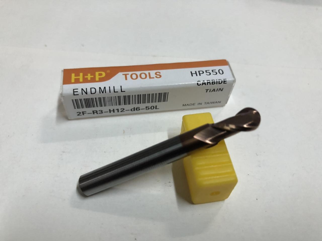 Mũi phay hợp kim CNC vàng (6 ly) cầu 2me cao cấp loại 1 H+P