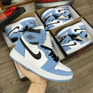 Giày Jordan cổ cao Full Box+Bill Giày thể thao Air Jordan Xanh Dương cổ cao nam nữ mới thumbnail
