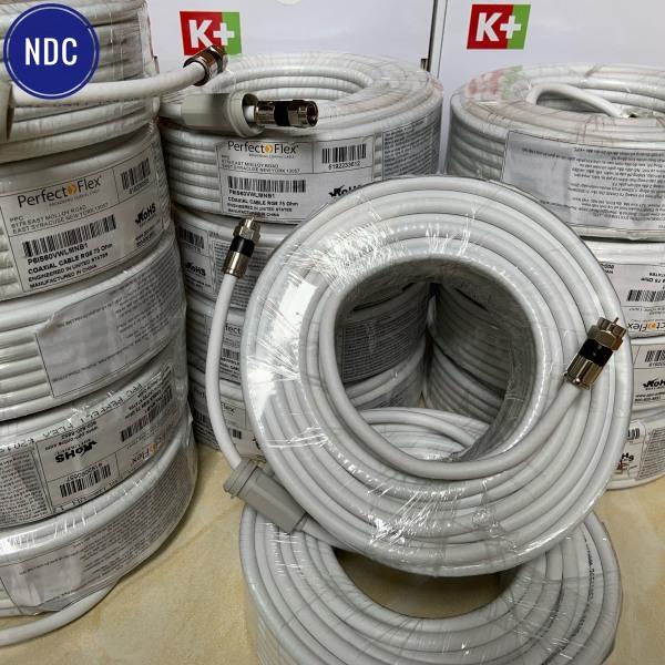 Cuộn Cáp TV Đồng Trục K+ (20m) Bấm Sẵn 2 Đầu Jack Nén Xịn Chống Nhiễu Cực Tốt