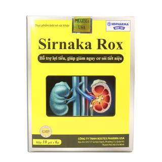 SIRNAKA ROX lợi tiểu, giúp giảm nguy cơ sỏi tiết niệu Hộp 10 gói x 6g thumbnail