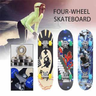 Ván Trượt Skateboard Trẻ Em Đạt Chuẩn Thi Đấu, Ván Trượt Bốn Bánh Cỡ Lớn Đạt Chuẩn Thi Đấu 8 Lớp Gỗ Mặt Nhám Chắc Chắn, Trượt Ván Loại Tốt, Ván Trượt Trục Làm Bằng Thép Siêu Bền. thumbnail