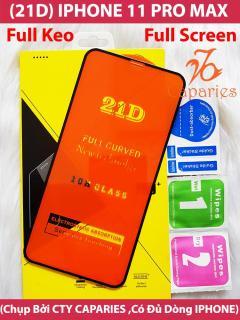 [HCM]Kính Cường Lực 21D IPHONE 11 PRO MAX Full Keo Màn Hình 21D CAPARIES SIÊU BỀN SIÊU CỨNG ÔM SÁT MÁY thumbnail