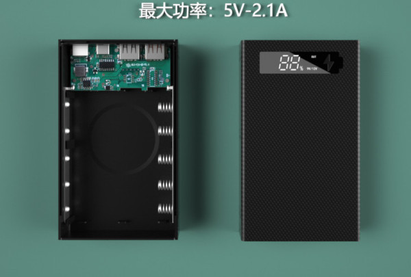 Bảng giá Box sạc dự phòng 5 cell pin 18650 5V2.1A - Model CX5 ( Dể dàng tháo lắp để thay pin )