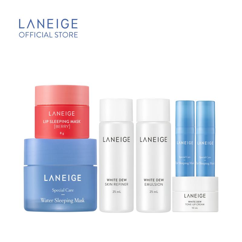 Combo mặt nạ ngủ dưỡng ẩm và sản phẩm dưỡng trắng Laneige giá rẻ