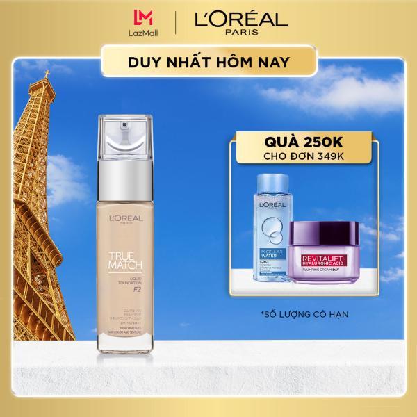 Kem nền mịn nhẹ dưỡng da dạng lỏng LOreal Paris True match Liquid Foundation 30ml cao cấp
