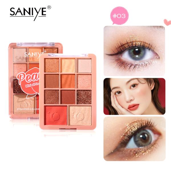 SANIYE Bảng phấn mắt và phấn má hồng đa chức năng E118 - INTL