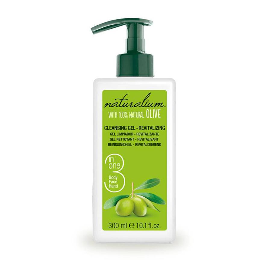 Sữa rửa mặt Làm sạch 3in1 Olive Naturalium 300ml