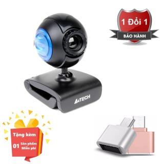 ( Tặng kèm Đầu OTG kết nối cho điện thoại cổng Micro Usb ) Webcam tích hợp Micro cho máy tính, PC, Laptop A4tech 752F - Webcam học online tại nhà A4tech PK-752F - Webcam online kèm Micro 752F thumbnail
