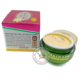 Kem trắng sáng - Giữ ẩm - Ngăn ngừa lão hóa - Bảo vệ da toàn thân Bạch Sâm K18 300g (Đỏ - Trắng) thumbnail