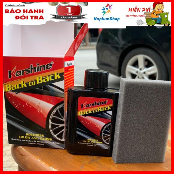 [DẦU Vệ SINH & PHỤC HỒI ĐÈN XE KARSHINE 150ml – Thailand] Dung dịch làm mới đèn pha ô tô NuplumShop, dung dịch làm sạch và đánh bóng đèn xe