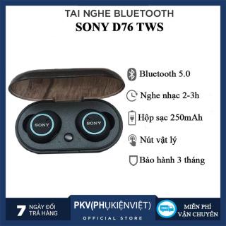 Tai Nghe Bluetooth Chất Lượng Cao - Hàng Chính Hãng Tai nghe bluetooth Sony D76 siêu trầm , đàm thoại 2 chiều , pin trâu nge nhạc lên đến 3-4 giờ , bảo hành 12 tháng thumbnail