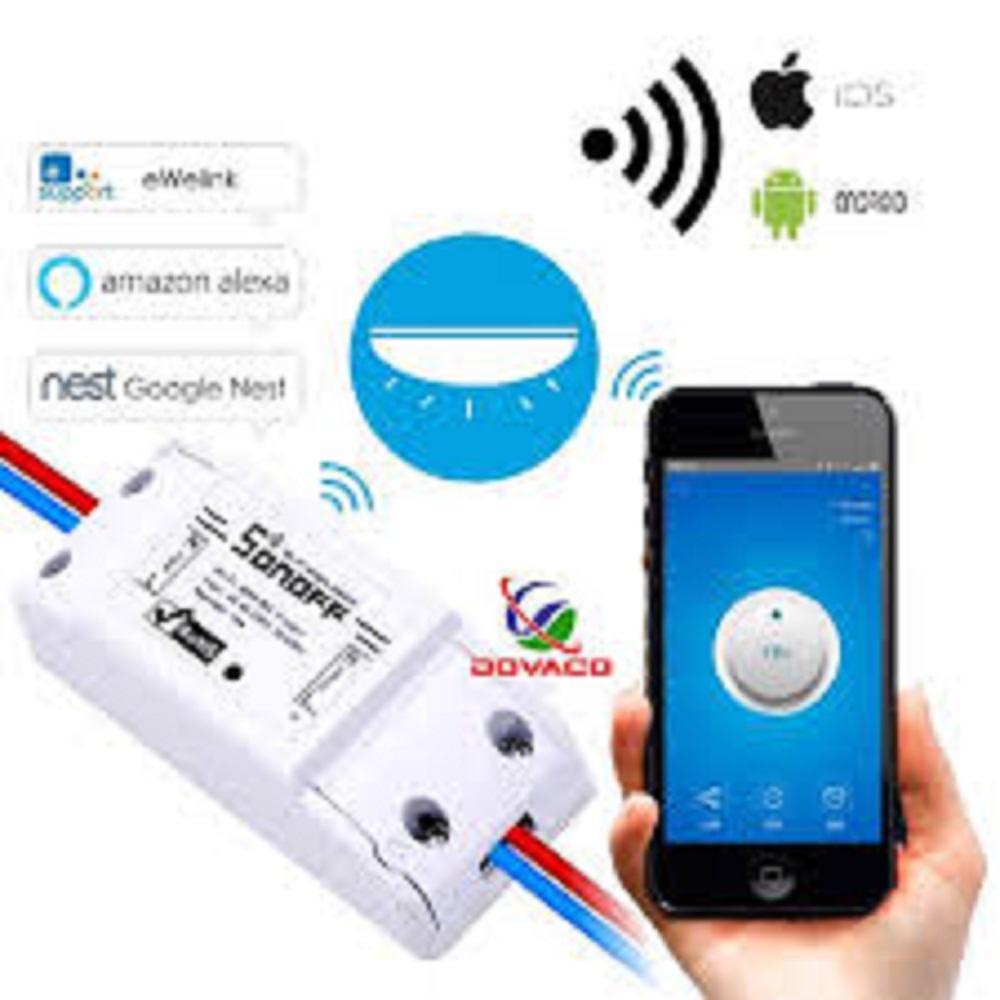 Công tắc thông minh Sonoff Basic (Quốc Tế - Tiếng Anh), điều khiển từ xa qua WIFI, 3G, 4G