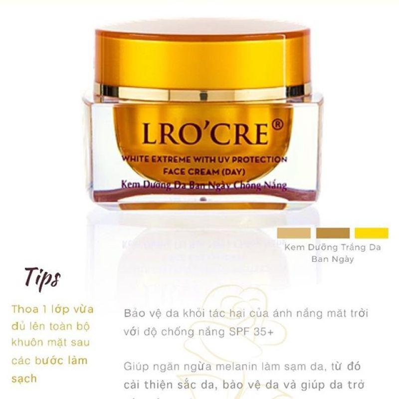 Kem face ngày dưỡng trắng chống nắng và makeup Lrocre nhập khẩu