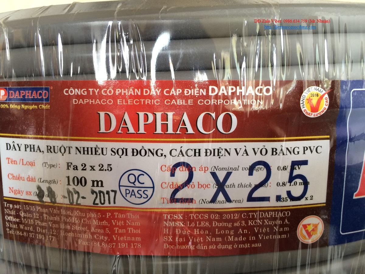 Dây Fa 2 x 2.5 DAPHACO (100 mét)