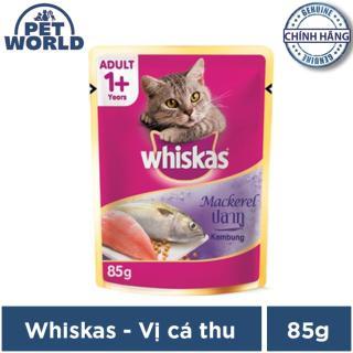 Thức ăn mèo lớn Whiskas vị cá thu túi 85g thumbnail
