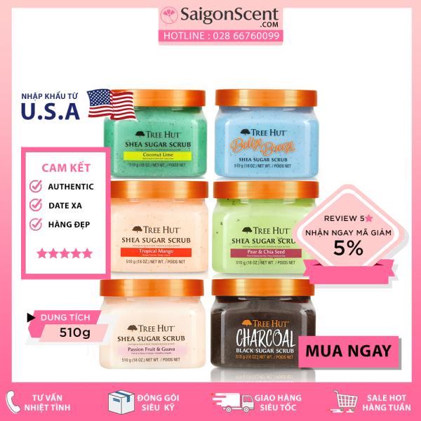 [Chọn Mùi] Tẩy Tế Bào Chết Toàn Thân Tree Hut Sugar Scrub ( 510g ) nhập khẩu