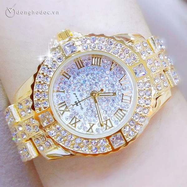 Nơi bán Đồng hồ nữ MS DIAMOND Đính Đá Siêu Đẹp - Chống Nước - Hàng Nhập Khẩu Chính Hãng - Bảo Hành 12 Tháng