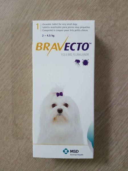 BRAVECTO chó 2-4,5kg (viên)