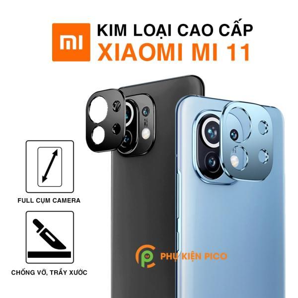 Dán camera Mi 11 khung kim loại bảo vệ an toàn camera sau - Ốp viền camera Xiaomi Mi 11