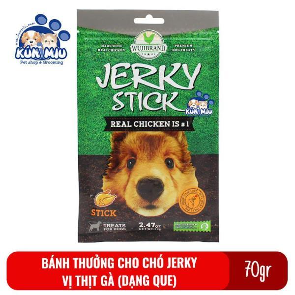 Bánh Thưởng Cho Chó Jerky 70Gr Vị Thịt Gà Dạng Que