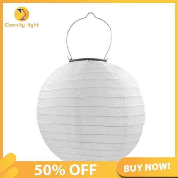 [50% OFF] Đèn Lồng LED Năng Lượng Mặt Trời 25Cm, Đèn Treo Trang Trí Sân Ngoài Trời Không Thấm Nước [Chuyển phát nhanh]