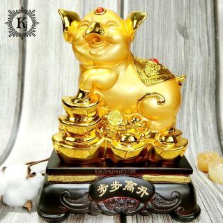 Tượng Heo Vàng Phong Thủy - Mang Đến Sự Sung Túc - Ấm No - Con Cháu Vui Vẻ thumbnail