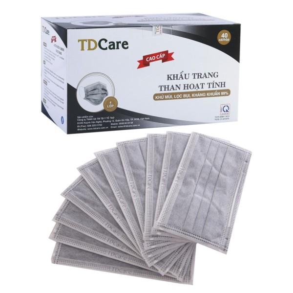 Khẩu trang y tế than hoạt tính TDCare (40 cái/hôp) giá rẻ