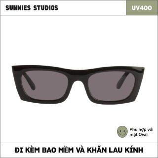Kính mát Sunnies Studios Gọng Vuông Zio in Ink thumbnail