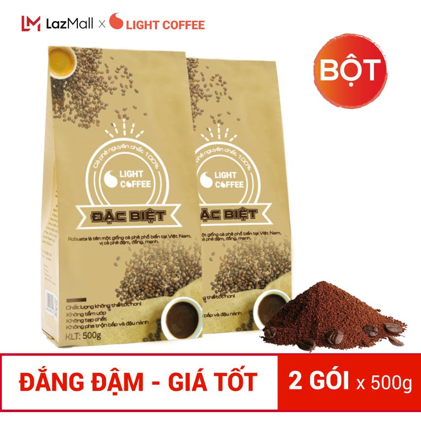 Cà phê bột, cà phê hạt Light coffee Đặc biệt 1KG pha phin, đậm , đắng , mạnh, cà phê 100% nguyên chất rang xay không tẩm ướp, không pha trộn tạp chất , giá rẻ