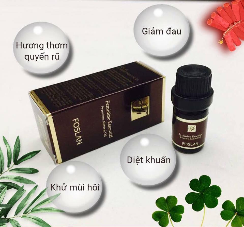 Nước hoa vùng kín, giảm đau kháng viêm trị đau bụng kinh Foslan 5ml Hàn Quốc