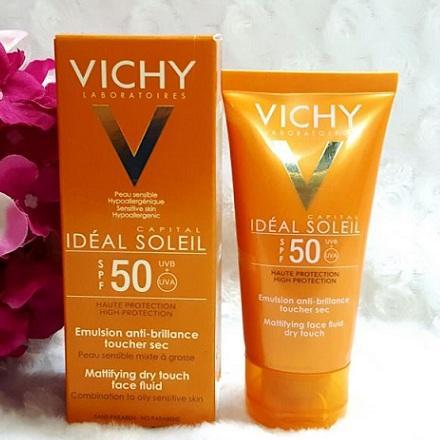 Kem chống nắng không gây nhờn rít Ideal Soleil Dry Touch SPF 50 Chống Tia UVA + UVB 50ml tốt nhất