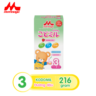 Sữa Morinaga Số 3 Kodomil 216g Cho Bé Từ 3 Tuổi - Hương dâu date T1.2022 (không tem đổi quà) thumbnail