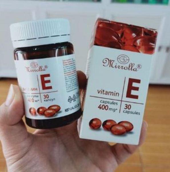 Vitamin E Đỏ Nga Mirrolla 400mg Hộp 30 Viên Giúp Trẻ Đẹp Da, Chống Lão Hóa