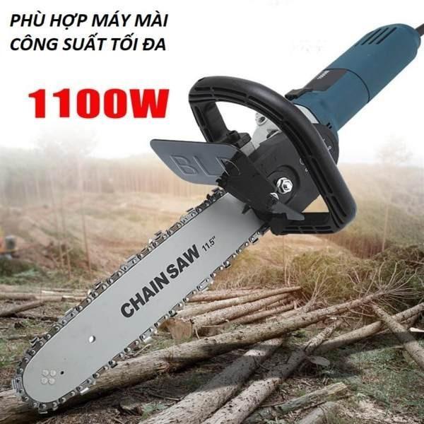 Bộ lưỡi cưa xích gắn máy mài Chain saw - Loại Xịn có bình tra dầu tự động gắn liền (29 Cm)