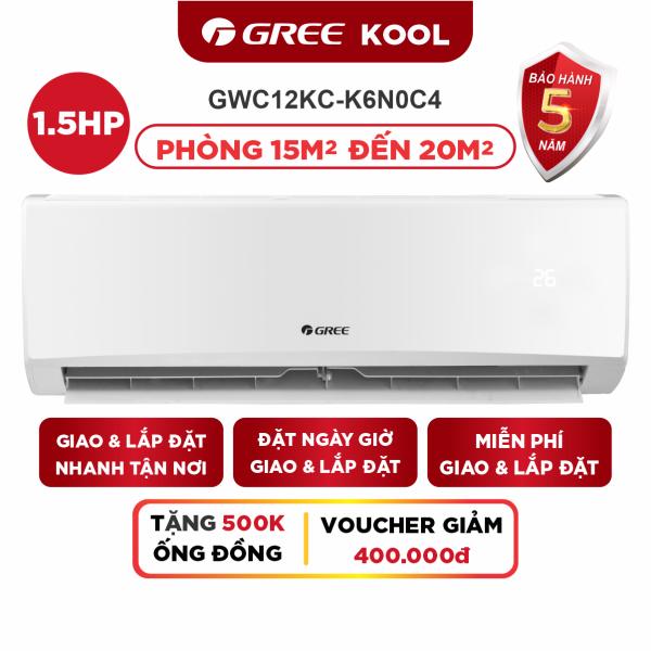 Bảng giá Máy Lạnh GREE KOLL 1.5 HP - Phù Hợp Phòng 15m2 Đến 20m2