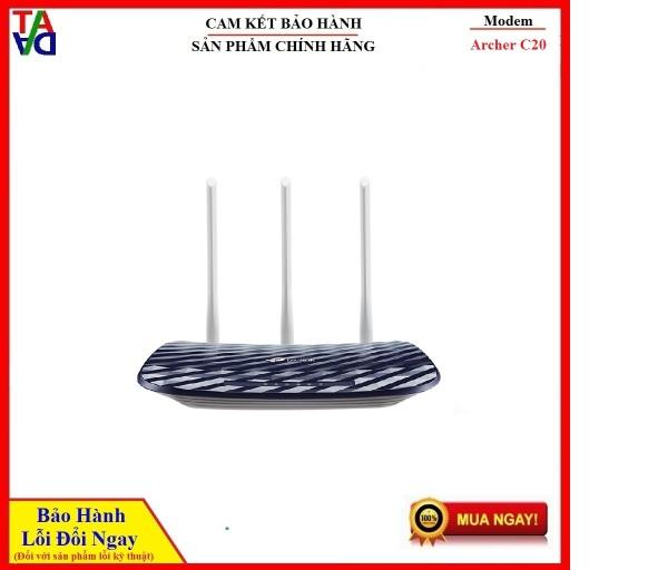 Bảng giá TP-LINK ARCHER C20 - ROUTER WIFI AC750 BĂNG TẦN KÉP - Hàng chính hãng - Bảo hành 24 tháng 1 đổi 1 Phong Vũ
