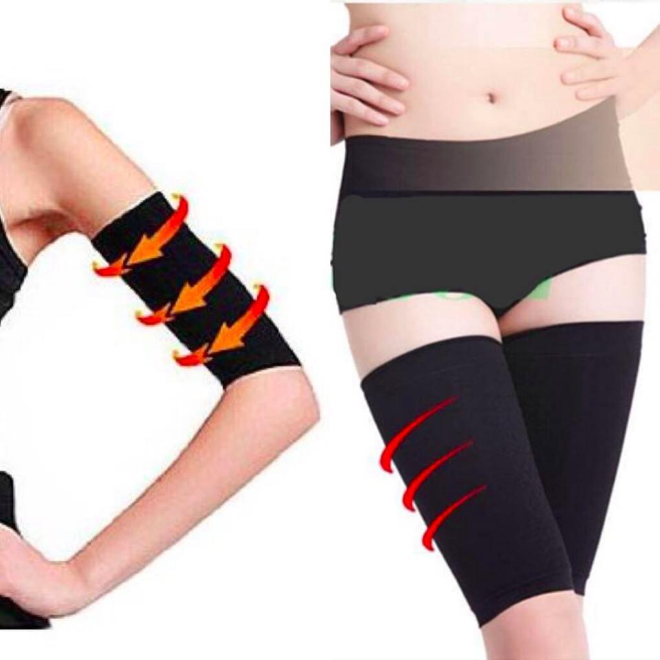 Combo bộ nịt tay và nịt đùi Massage Shaper cho cánh tay và đôi chân thon gọn - Lavy Store nhập khẩu