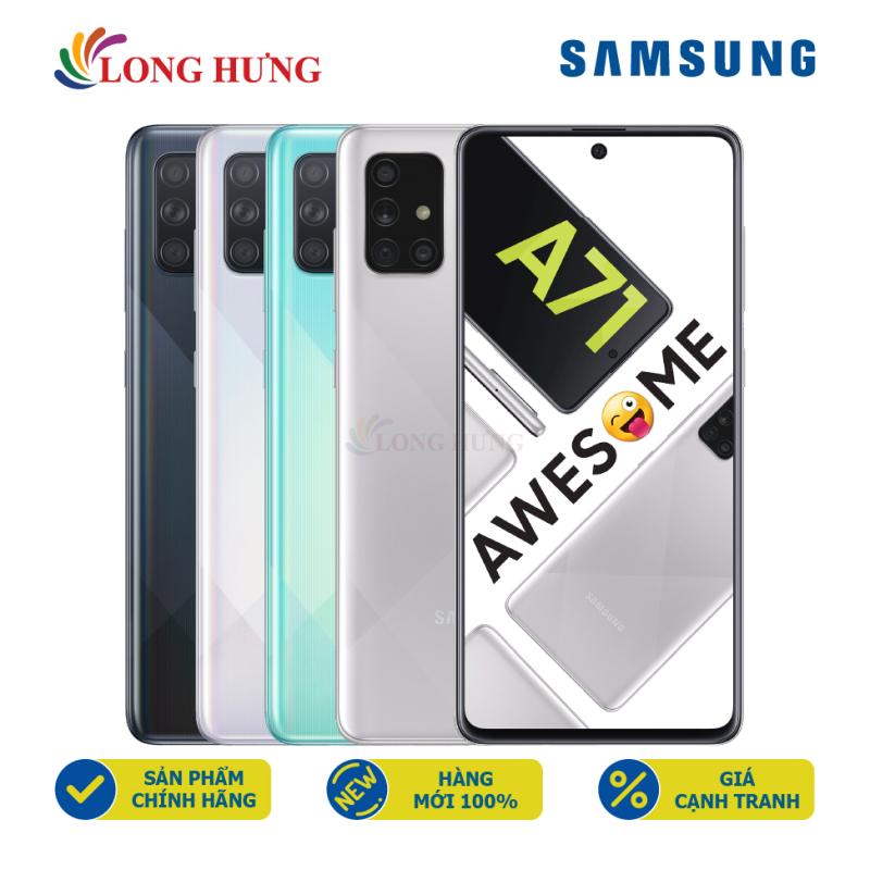 Điện thoại Samsung Galaxy A71 (8GB/128GB) - Hàng chính hãng - Màn hình 6.7 inch Infinity-O Full HD+, bộ 4 Camera sau, Pin 4500mAh, Cảm biến vân tay tích hợp trên màn hình