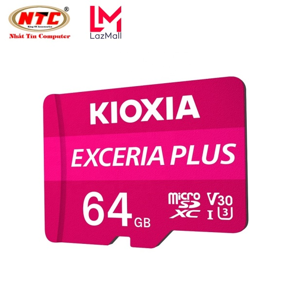 Thẻ nhớ MicroSDXC Kioxia Exceria Plus 64GB U3 4K V30 A1 R100MB/s W65MB/s (Tím) - Formerly Toshiba Memory