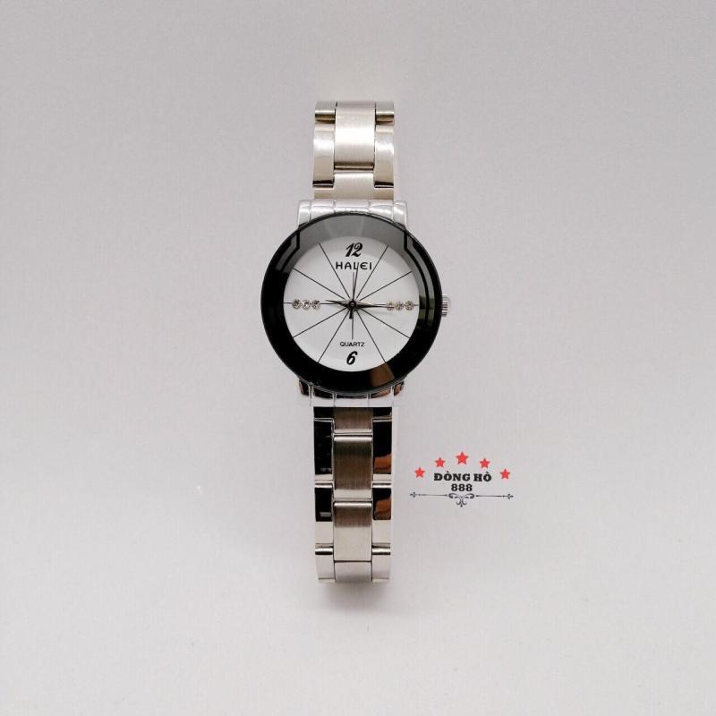 Đồng hồ nữ HALEI dây kim loại thời thượng ( HL457 dây trắng mặt trắng ) - Kính Chống Xước, Chống Nước Tuyệt Đối, Mạ PVD Cao Cấp Chống Gỉ Chống Phai Màu Thời Trang Hottrend 2020