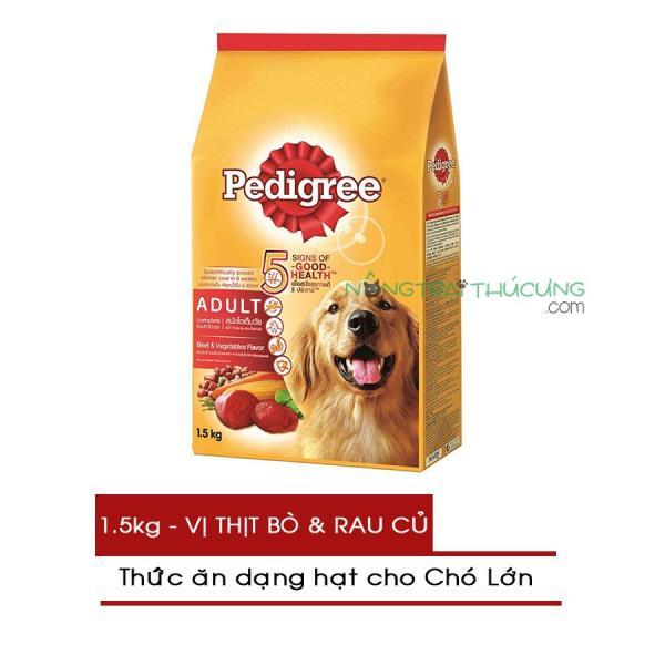 Thức ăn hạt cho Chó lớn Pedigree gói 1.5kg - Vị Thịt Bò & Rau Củ - [Nông Trại Thú Cưng]