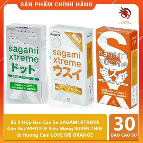 [COMBO ] Bộ 3 Hộp Bao Cao Su SAGAMI Xuất Xứ Nhật Bản, siêu mòng, siêu rẻ - 3 hộp 30 cái