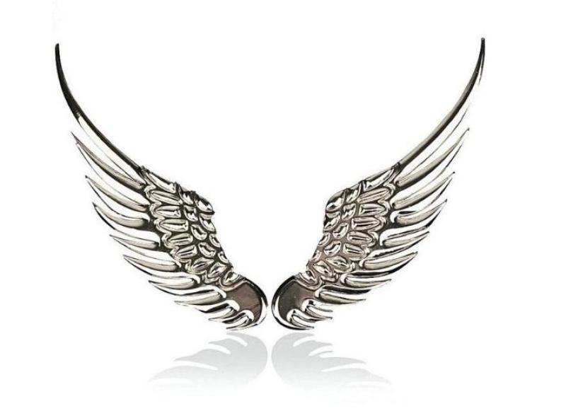 Logo đôi cánh thiên thần Kim Loại Trang Trí Xe Hơi Độc Đáo