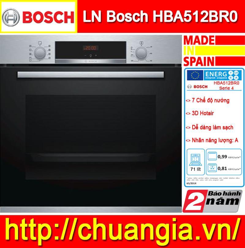 Lò Nướng HBA512BR0, Lò Nướng Bánh, Lò Nướng Âm Tủ, Lò Nướng