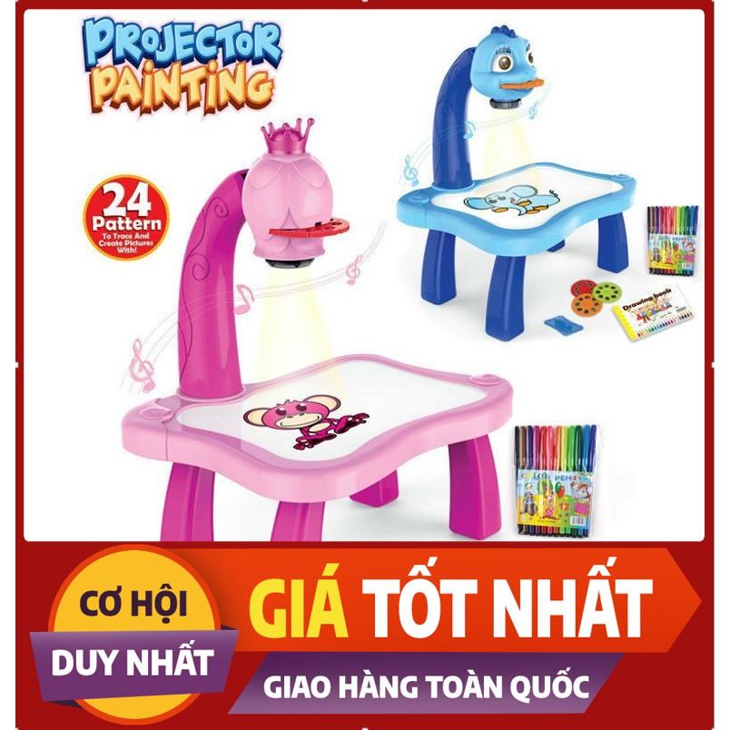 Bộ đồ chơi bàn vẽ 3D, bàn chiếu đa năng chiếu hình tập vẽ có đèn chiếu sáng thông mình cho bé, Bộ bàn đèn thông minh chiếu hình tập vẽ cho bé học vẽ