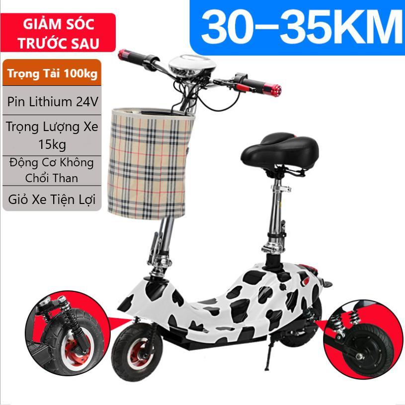 Giá bán Xe Điện Mini E-Scooter Pin Lithium 24V Cao Cấp